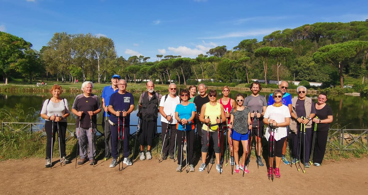 Nordic Walking a Villa Ada