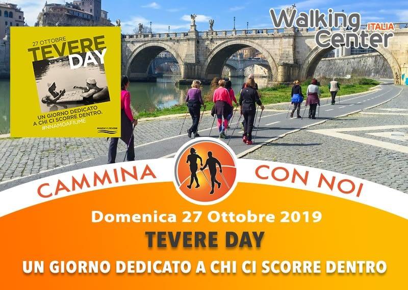 Domenica 27 Ottobre:  Tevere Day, camminata sportiva e nordic walking lungo la ciclabile del Tevere