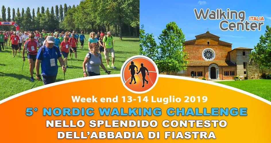 5° tappa del Nordic Walking Challenge nello spettacolare contesto dell'Abbadia di Fiastra (Tolentino MC) il 13-14 Luglio