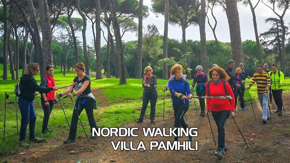 Corso base Nordic Walking Villa Pamphili – Domenica 18 Aprile 2021
