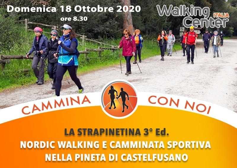 La Strapinetina 3° edizione. Nordic Walking e Camminata Sportiva nella Pineta di Castelfusano