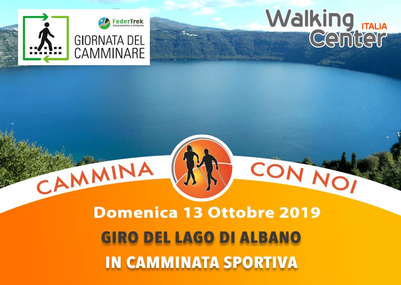 Domenica 13 Ottobre cammina sportiva per il giro del Lago di Albano